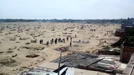 Desalojan a invasores del cementerio Mampuesto en Trujillo