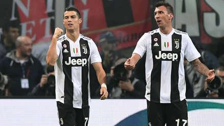Juventus con goles de Cristiano Ronaldo y Mandzukic venció 2-0 al AC Milan por la Serie A