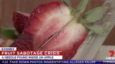Australia | Una mujer fue detenida acusada de insertar agujas en cientos de fresas