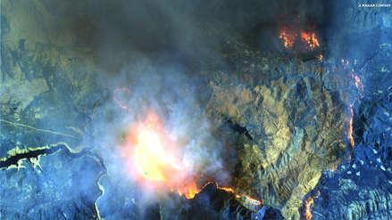 Fotos | Así se ve desde el espacio el incendio de California que ha dejado 25 muertos
