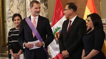 El rey de España agradeció recibimiento y afecto del Perú en su primera visita de Estado