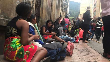 Cientos de indígenas huyen a Bogotá por enfrentamientos entre el Clan El Golfo y el ELN