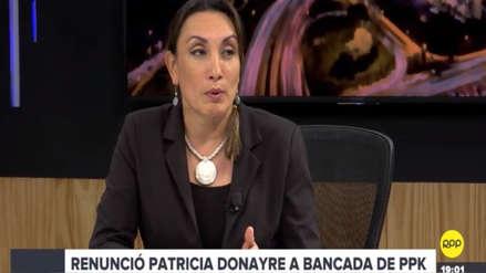 Patricia Donayre: Cambio en las vocerías