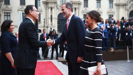 El presidente Martín Vizcarra recibió a los reyes de España en Palacio de Gobierno [FOTOS]
