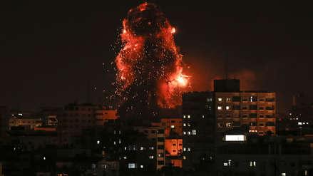 Fotos | Israel bombardeó edificio de canal de TV de Hamás en Gaza