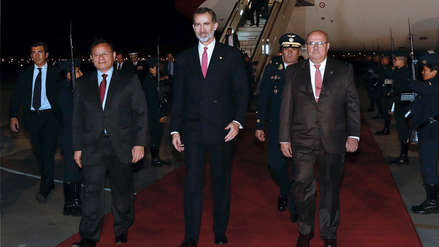 Rey Felipe VI de España llegó esta madrugada a Lima en visita oficial