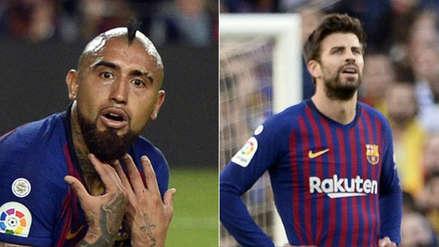 Arturo Vidal discutió con Piqué tras la derrota de Barcelona en la Liga de España