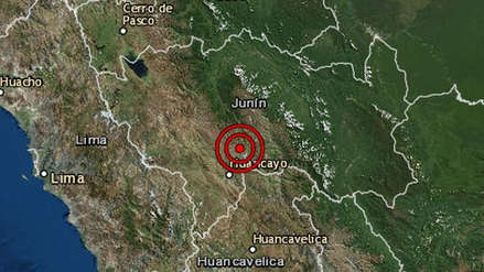 Un sismo de magnitud 4.0 remeció la región Junín esta mañana