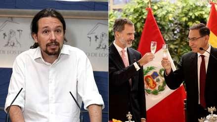 Pablo Iglesias ironizó sobre el apoyo del Rey de España a  la lucha anticorrupción en Perú