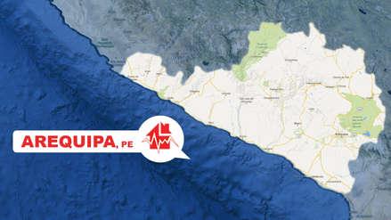 Un sismo de magnitud 4.1 remeció la región Arequipa esta tarde