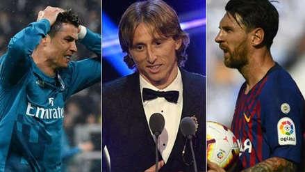 Luka Modric destronó a Cristiano Ronaldo y a Lionel Messi tras ganar este premio