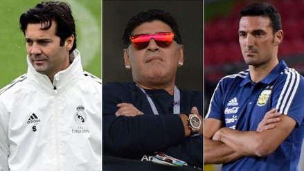 Diego Maradona y sus lapidarios vaticinios sobre Solari y Scaloni