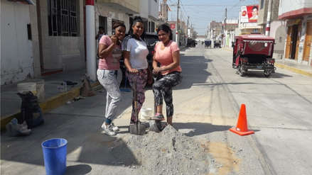 Venezolanas parchan calles del distrito de Monsefú