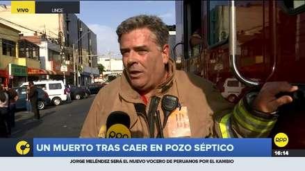 Lince: Dos trabajadores de un restaurante murieron tras caer a pozo séptico