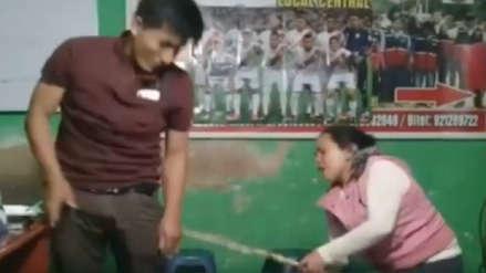 Cajamarca | Ronderos castigaron a hombre por golpear a su esposa