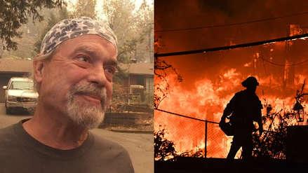 La batalla de un hombre para salvar a su madre de 90 años de las llamas en California