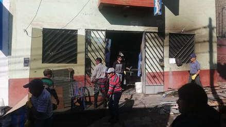 Incendio en vidriería de Otuzco deja tres heridos