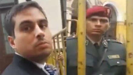 Cercado de Lima: Una mujer fue agredida física y verbalmente por un hombre ante la vista de agentes policiales