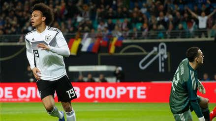 Alemania 3-0 Rusia: Sané anotó su primer gol con la 'Mannschaft' tras 16 partidos
