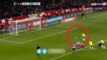 Neymar y su exquisita definición en el gol del triunfo de Brasil ante Uruguay