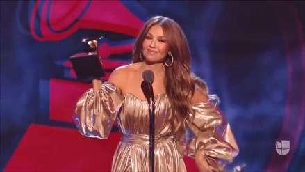 Grammy Latino 2018: Thalía enfrentó el abucheo del público por la ausencia de Luis Miguel [VIDEO]