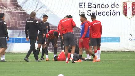 Perú vs. Costa Rica:  Gareca se llevó un susto por choque que sufrió Nilson Loyola en la práctica | VIDEO
