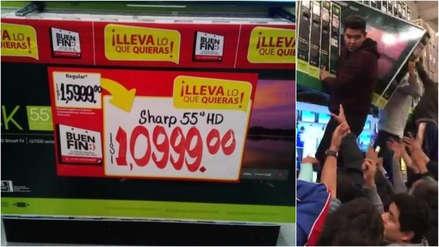 Caos en un supermercado por el error en una etiqueta: un televisor 4K de 55 pulgadas se vendía a 54 dólares