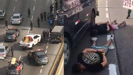 Policía capturó a dos presuntos ladrones tras intensa persecución en la Vía Expresa