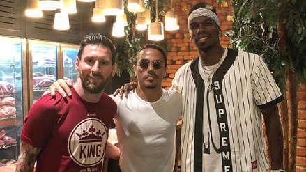 Revelan el curioso tema de conversación entre Leo Messi y Paul Pogba en Dubái