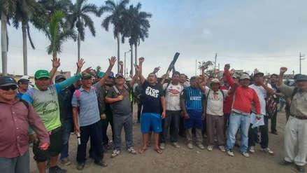Trabajadores de empresa Pomalca protestan por falta de pago de CTS