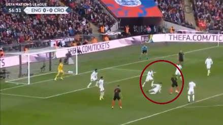 Inglaterra vs. Croacia: El golazazo de Andrej Kramaric para poner el 1-0 en Wembley