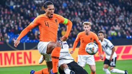 Van Dijk anotó sobre la hora y metió a Holanda en el Final Four de la Liga de Naciones