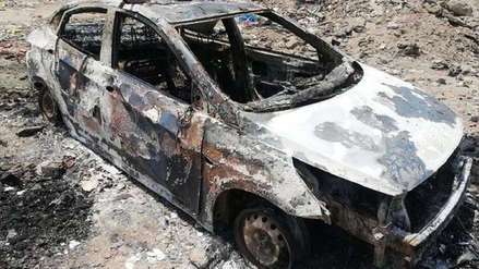 Taxista muere tras ser quemado en su auto en Trujillo