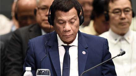 El presidente filipino Rodrigo Duterte reconoce que se pierde reuniones por quedarse dormido
