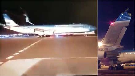 Insólito accidente: Piloto chocó avión cuando celebraba su retiro
