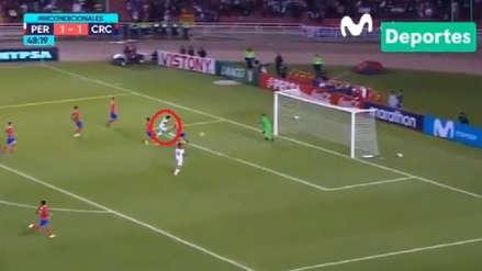 Perú vs. Costa Rica: Raúl Ruidíaz estuvo cerca de anotar tras centro de Edison Flores