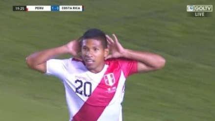 Perú vs. Costa Rica : Edison Flores anotó gol tras preciso centro de Aldo Corzo | VIDEO