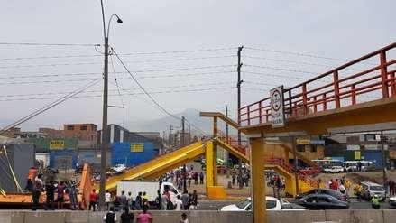 Rutas de Lima anunció instalación provisional por el puente derribado en la Panamericana Norte