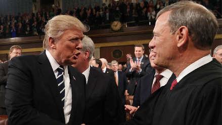 Trump se enfrenta a jefe de Corte Suprema por decisiones