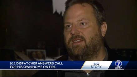 Operador del 911 atendió llamada y se enteró de que su casa se incendiaba