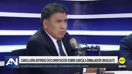 """Velásquez Quesquén denunció supuesta """"intromisión"""" del Gobierno en el caso Alan García"""