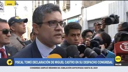José Domingo Pérez tomó declaración de Miguel Castro: Fue