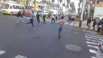 Policía capturó a dos presuntos delincuentes tras una balacera en Chorrillos