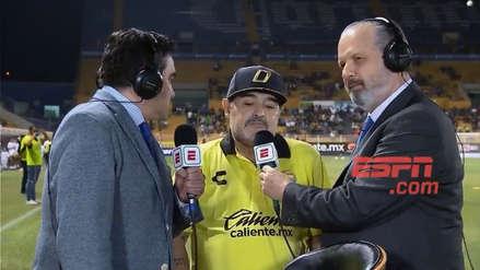Diego Maradona causa polémica por indescifrable respuesta en entrevista