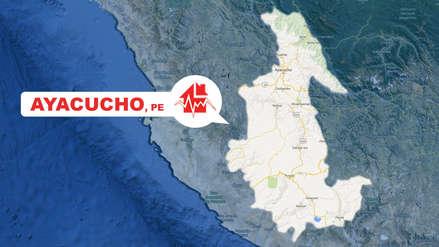 Un sismo de magnitud 4.8 se registró esta tarde en Ayacucho