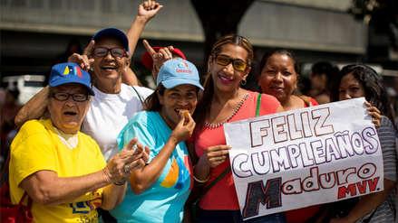 Así celebraron los chavistas el cumpleaños 56 de Nicolás Maduro