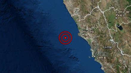 Un sismo de magnitud 4.5 remeció la región Lima esta tarde