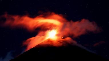 Alarma en Guatemala por fuerte actividad del Volcán de Fuego