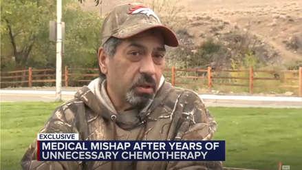 Un hombre recibió quimioterapia durante cinco años para un cáncer que nunca tuvo