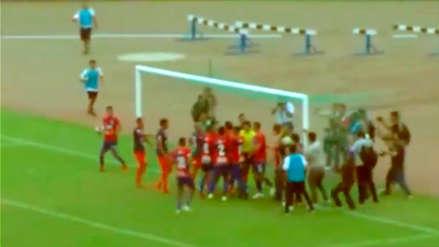 La trifulca que se originó tras penal al último minuto en el Mannucci vs. César Vallejo